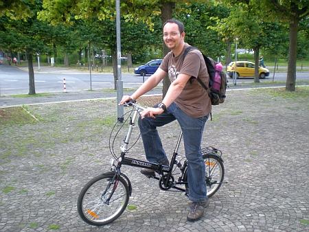 Erste Testfahrt mit dem ersteigerten Faltrad