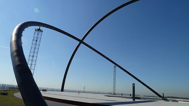 Horizontalobservatorium auf 155 Meter ü. NN - Konstruktion ist zurzeit beschädigt und muss abgestützt werden