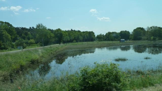 Auch hier sind noch die restlichen Wassermassen der letzten Flut zu erkennen.